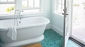 tile floor designs for bathrooms beach house bathrooms coastal living