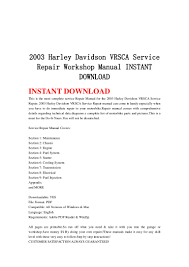 2003 harley davidson vrsca service repair workshop manual instant dow u2026