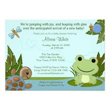 frog baby shower personalized frog baby shower invitations custominvitations4u