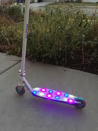 razor kick scooter light up wheels razor party pop kick scooter review a sparkle of genius