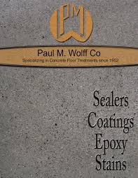 architects paul m wolff company concrete floor finishes
