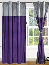 Purple And Silver Bedroom Inspiring Purple And Silver Color Combination Curtain
