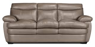 couch taupe marty genuine leather sofa u2013 dark taupe the brick
