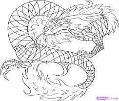 drawn chinese dragon long pencil and in color drawn chinese