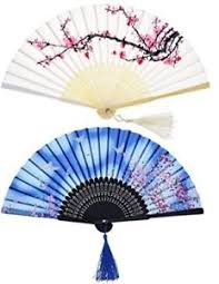 handheld fans 2 pieces folding fans handheld fans bamboo fans with tassel