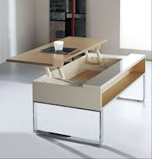 wood furniture coffee table with lift top storage thippo