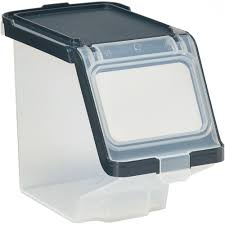 plastic storage bin with lid in plastic storage bins