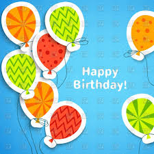 happy birthday postcards happy birthday postcard with paper balloons covered with