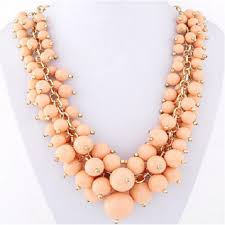 pink coloured beads necklace images Pink colour candy grape stone beard necklace for women pizza sauce png