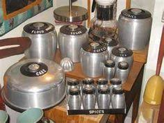 art deco aluminium stackable kitchen canisters 1940 u0027s cakes