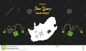 africa map by year happy new year theme with map of south africa stock illustration