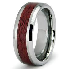 wood wedding band tungsten carbide maple wood wedding band ring