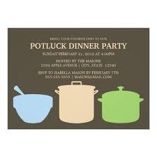 potluck dinner invite zazzle