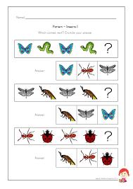 insect worksheet for kindergarten patterns patterns kid