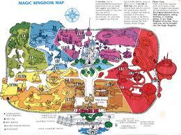 Map Of Orlando Fl Theme Park Brochures Walt Disney World Magic Kingdom Theme