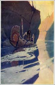 painting of native american 1907 n c wyeth wikiart org