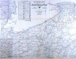 Ohio Pennsylvania Map by Ecc Rand Mcnally Official 1919 Auto Trails Map District Number
