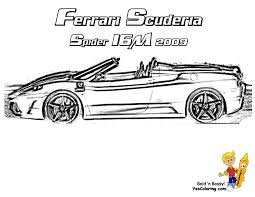 ferrari spider coloring pages ilgroup