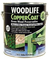 Wood Staining Bismarck Nd Wood Stains by Woodlife Coppercoat Green Wood Preservative 1 Gal At Menards