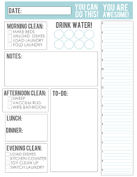 printable evening schedule thebusybudgetingmama daily schedule things mommy should know or do