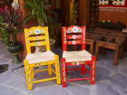 Mexican Patio Furniture by Julie Eggers Hand Painted Chairs San Miguel Guanajuato State