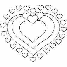 un coloriage de coeur pour la saint valentin coloriages de la