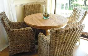 Dining Table With Rattan Chairs Dining Table Rattan Round Dining Table Base Wicker Chairs Set