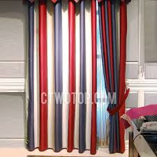 Striped Blackout Curtains Blended Material Modern Blackout Striped Curtains No Include