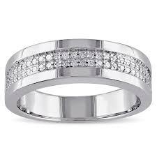 silver band miadora sterling silver men s 1 10ct tdw diamond wedding band