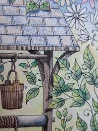 Secret Garden Wall by Passion For Pencils My Secret Garden Colouring Book The Well Part 2