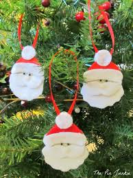 Easy Homemade Christmas Ornaments by The Pin Junkie Felt Santa Christmas Ornaments