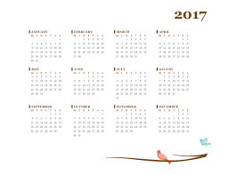 2017 yearly calendar mon sun office templates