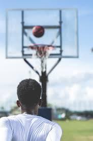 man basketball court free stock photo negativespace