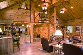 barn home interiors barn wood accent walls open floor plan see floor plans for above