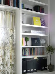 White Corner Bookcases by Living Room Furnitures Living Room White Modern Bookshelf Design