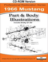 1966 mustang part and body illustrations ford motor company