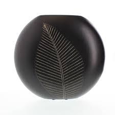 decorative vases for living room leaf design carved wood flower