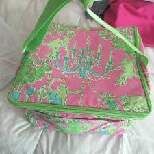 Lilly Pulitzer by Lilly Pulitzer Monkey Trouble Square Zippered Cooler Pink Green