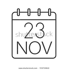 thanksgiving day date linear icon black stock vector 723733810