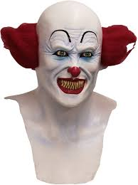 Evil Clown Halloween Costume Pennywise Horror Latex Mask Evil Clown Halloween Costume Accessory