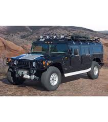 hummer h1 wagon ranger with tire rack 4 independent led lights
