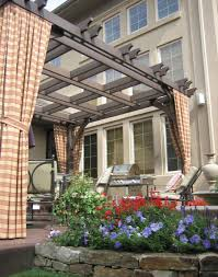 Wood For Pergola by Decorating Exciting Green Outdoor Curtain Panels With Outdoor