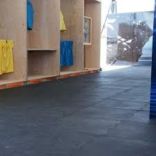 interlocking rubber tiles this diy flooring is no puzzle