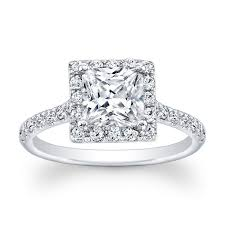 princess cut engagement rings with halo 0 44ct pave princess cut solitaire engagement ring no center