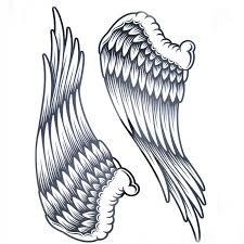 aliexpress com buy 1pcs big cool mens black wing tattoos