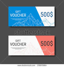 Design Gift Cards For Business Gift Voucher Certificate Coupon Template Colorful Stock Vector
