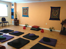 good blue paint colors schemes for meditation room with extra