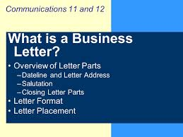 Casual Business Letter Closings What Is A Business Letter Ppt Video Online Download