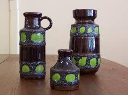 Antique Ceramic Vases Vintage Ceramic Vases From Scheurich Set Of 3 For Sale At Pamono