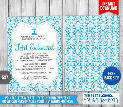 Invitation Card For Christening Free Download Boy Christening Invitation Template 3 By Templatemansion On